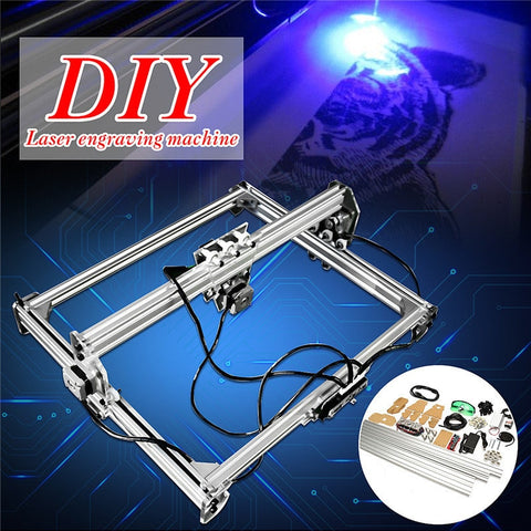 Excellent..! 50*65cm Mini 3000MW Blue CNC Laser Engraving Machine 2Axis DC 12V DIY Engraver Desktop Wood Router/Cutter/Printer+ Laser Goggles