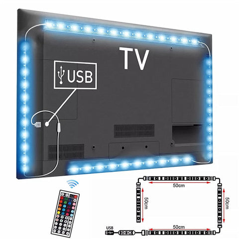 Excellent..! USB LED Strip DC5V Waterproof RGB 5050 SMD Led Light Can Change Color For TV Background Lighting With USB IR Remote Controller