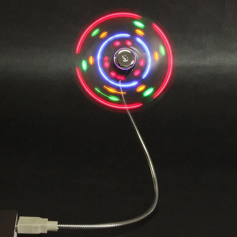 I Need  This...! ! Flexible Colorful LED Light Mini USB Fan Cooling for Home Desk Notebook Laptop
