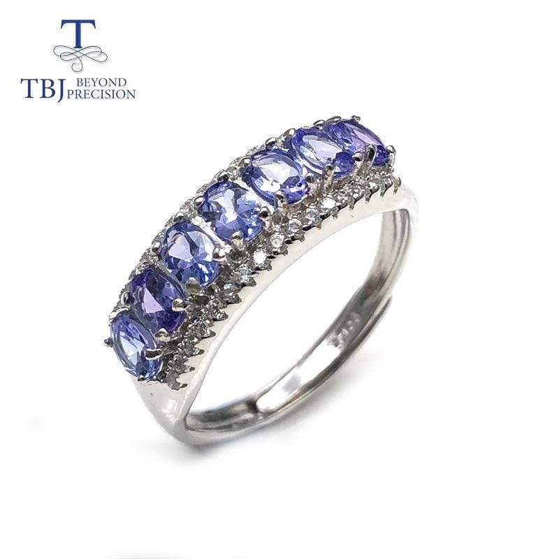 100% Natural Tanzanite Gemstone Ring | Solid Sterling Silver - DÉCOR RARO