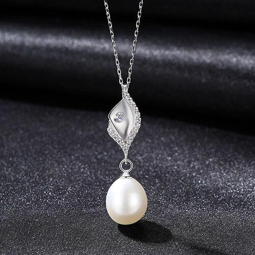 Freshwater Natural Pearl Collar Pendant - Sterling Silver - DÉCOR RARO