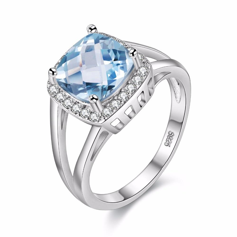 Natural London Blue Topaz 925 Solid Sterling Silver Ring - DÉCOR RARO