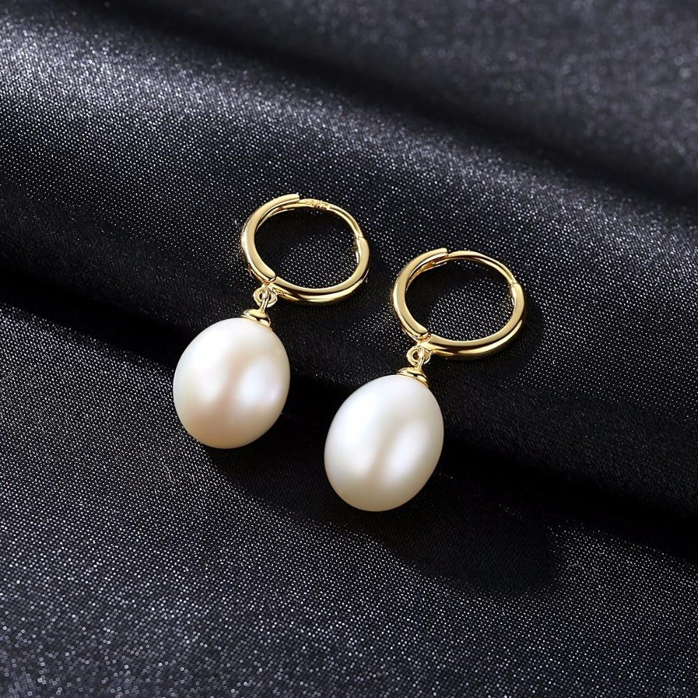 Natural Pearl Hoop Earrings - DÉCOR RARO
