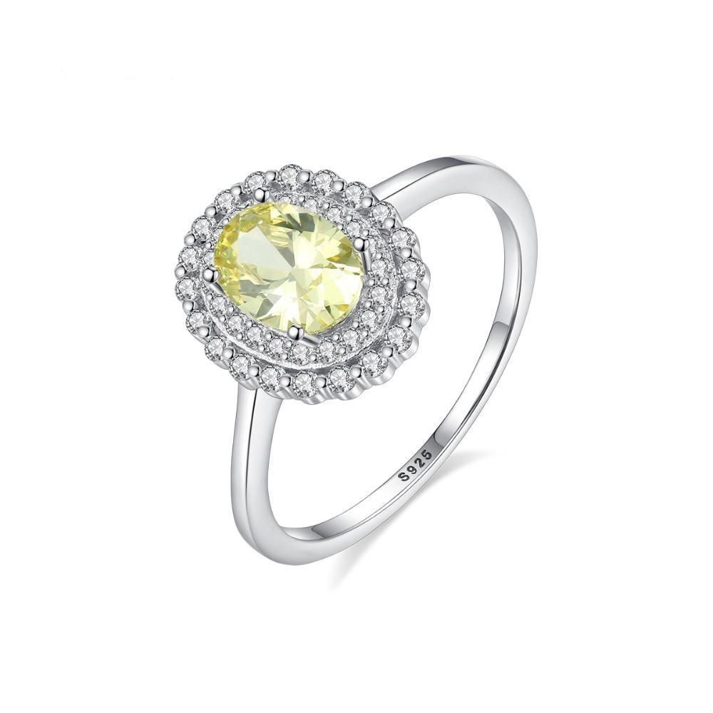 Princess Diana Natural Yellow Topaz Engagement Ring - DÉCOR RARO