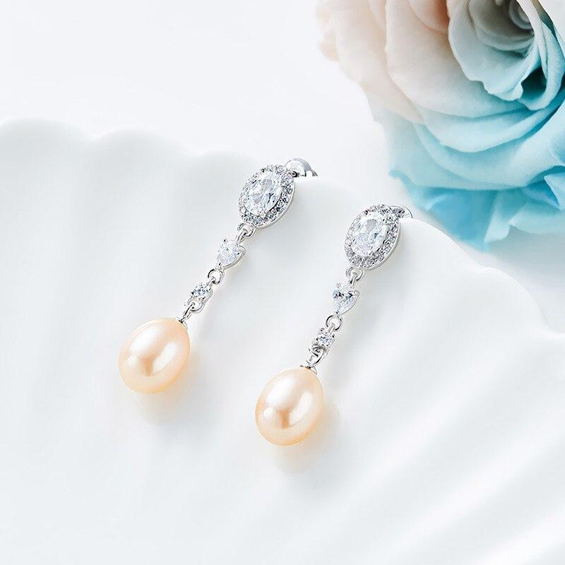 Real Natural Pearl Vintage 925 Sliver Earrings - DÉCOR RARO