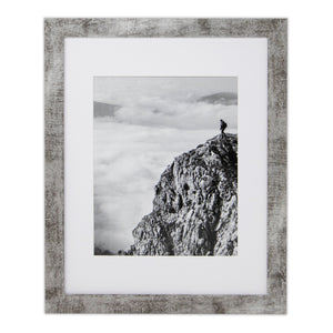 18x24 Picture frame Distress Gray, Matted for 12x18 Poster