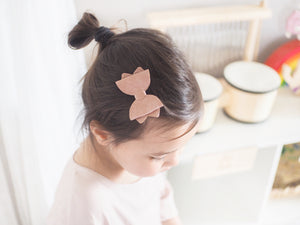 Sadie Bow (Small) - Mauve Embossed Flower