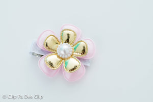 Embellished - Pink Gold Flower