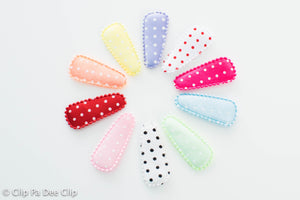 Baby Snap Hair Clips- Rainbow Polka Dots