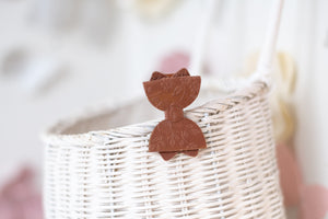 Sadie Bow (Small) - Winter Rust Embossed Flower