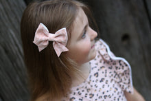 Fancy Sailor Bow- Light Pink Leopard Print
