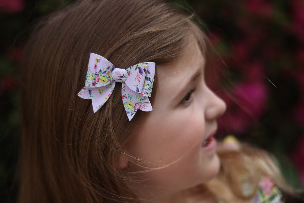Juliet Bow - Purple Spring Floral