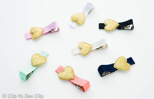 Embellished - Gold Glitter Hearts