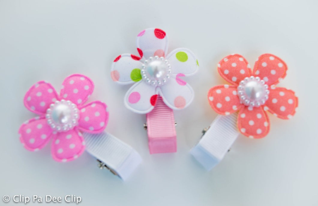 Embellished - Polka Dot Flowers