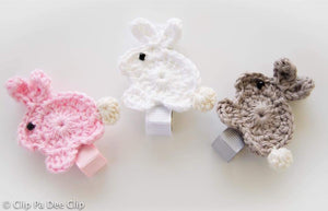 Crochet Bunny - Grey/Brown, Pink & White