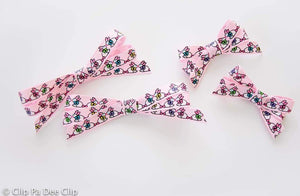 Ribbon Bows (Small & Medium) - Pink Pastel Bunnies