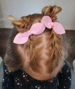 Oh, so knotty bows (Small)... Light Pink Leather