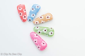 Baby Snap Hair Clips- Pastel Florals