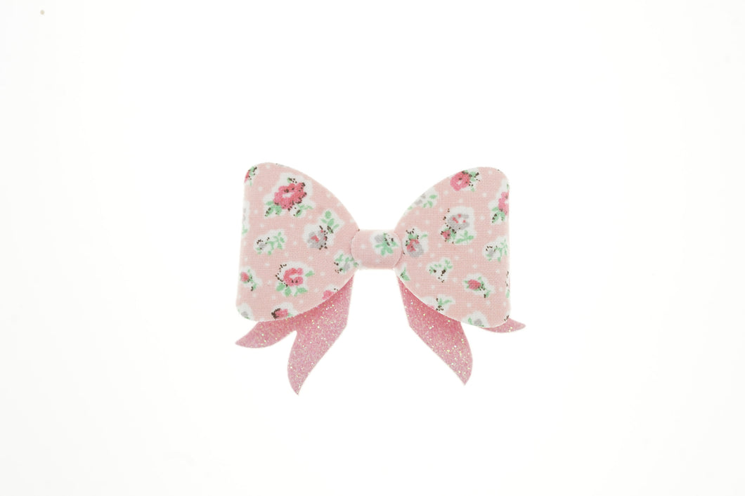 Billie Bow (Small)- Pink Floral