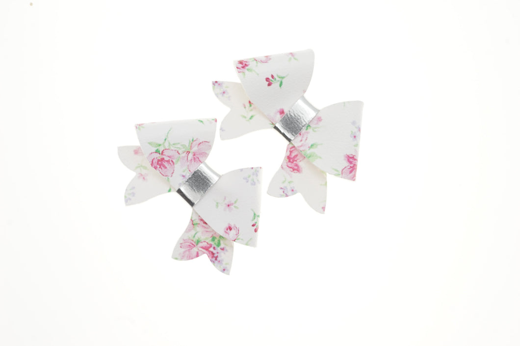 Penny Bow - White Floral