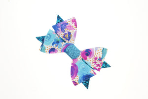 Luella Bow (Large) - Bloom Blue, Gold & White