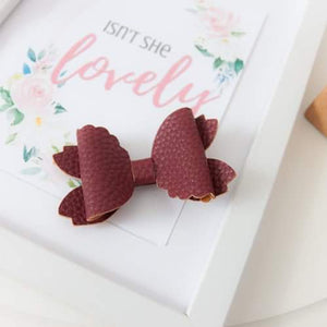 Violet Bow (Large) - Winter Red