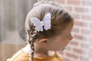 Flutter Butterfly - Irridescent White