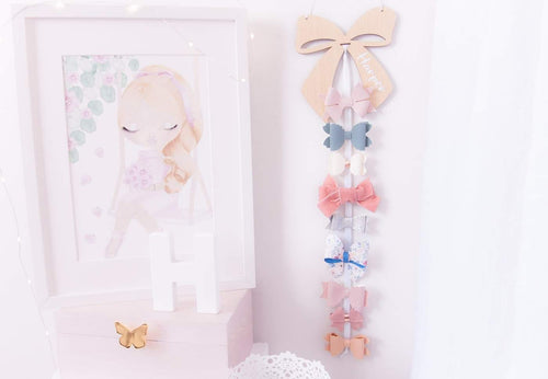 Personalised Bow Hair Clip Holder