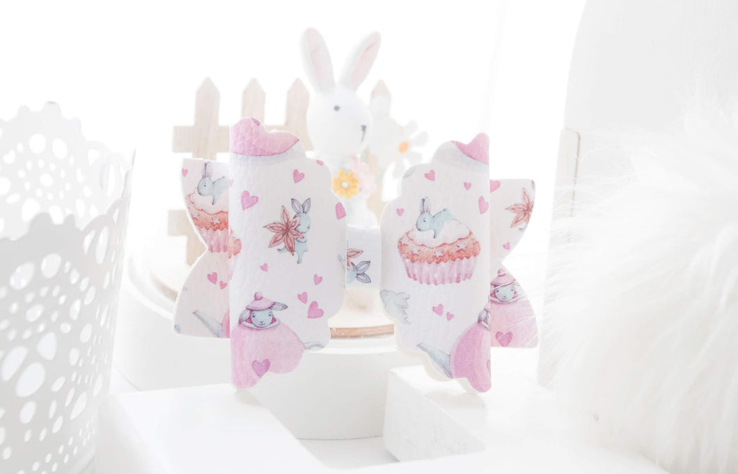 Trixie Bow - Pink Teapot Bunnies