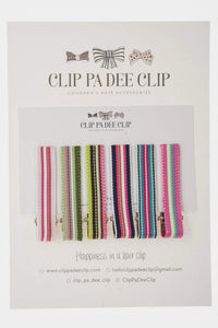 Set of 6 - Stripey Ribbon Slides