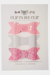Set of 3 Lottie Bow - All About Pink