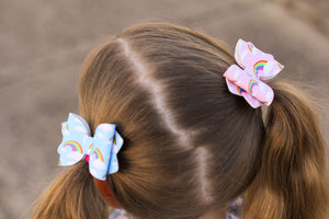 Sadie Bow (Small) - Blue OR Pink Rainbow