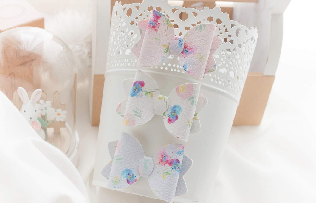 Sadie Bow (Small) - Water Colour Florals
