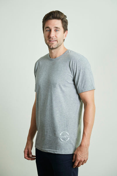 Men's TwistyTee Shirt in Light Grey | TwistyTee