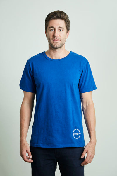 Men's TwistyTee Shirt in Blue | TwistyTee