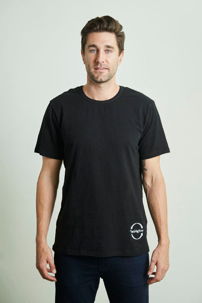 Men's TwistyTee Shirt in Black | TwistyTee