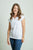 Women's TwistyTee V-Neck in White | TwistyTee