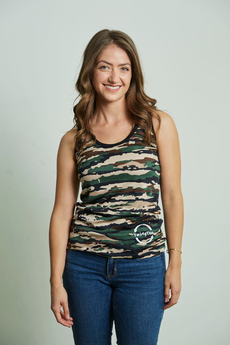 Women's TwistyTee Camo Dry Fit Tank
