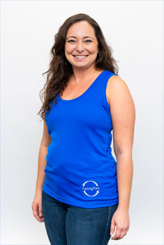 Women's TwistyTee Blue Dry Fit Tank