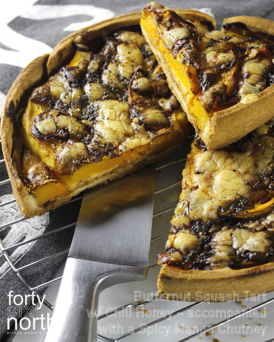 Butternut Squash Tart w/ Chili Honey