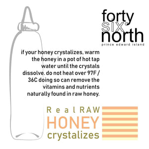 Real Raw Honey Crystalizes, Forty Six North, Prince Edward Island, Canada