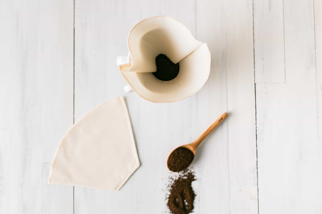 Reusable Coffee Cone Filters- Organic Cotton, set