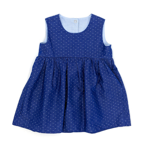 Dotty, chambray dress