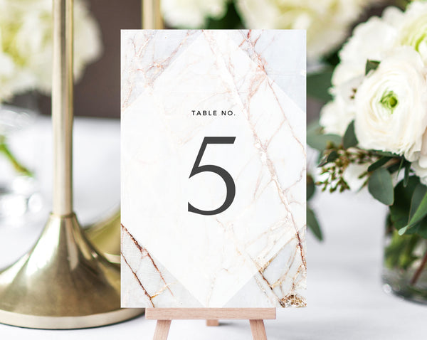 INSTANT DOWNLOAD Wedding Table Numbers, Marble Printable Wedding Table Numbers, Marble Wedding Table Number Template, DIY, Templett, W03