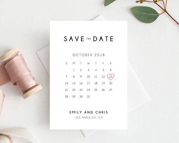 INSTANT DOWNLOAD Save the Date, Save the Date Template, Save the Date Printable, Save the Date Calendar, Wedding Template, Templett