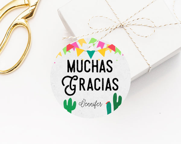 INSTANT DOWNLOAD Fiesta Favor Tags, Thank You Tag, Fiesta Favor Tag, Fiesta Gift Tag, Mexican Theme Favor Label Printable, Templett