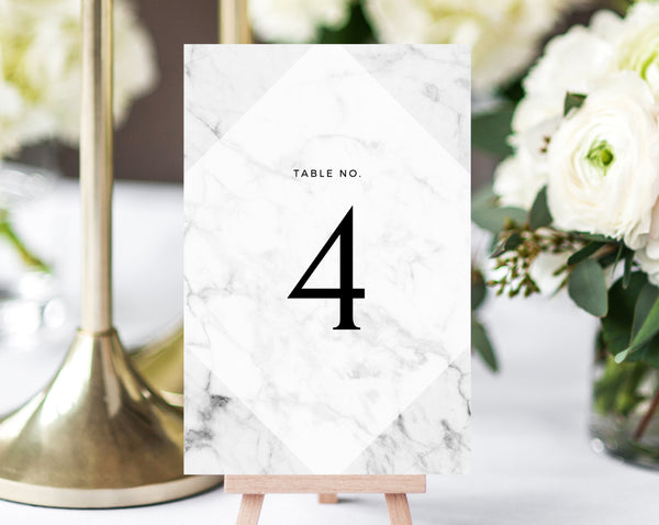 INSTANT DOWNLOAD Wedding Table Numbers, Marble Printable Wedding Table Numbers, Marble Wedding Table Number Template, DIY, Templett, W07