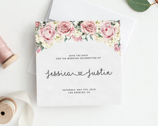 photograph relating to Printable Save the Date known as Help you save the Day Template, Printable Help save the Day, Fast Obtain Preserve the Day Printable, Dusty Roses Wedding ceremony Template, Templett, W06