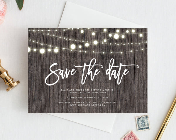 INSTANT DOWNLOAD Save the Date, Save the Date Template, Save the Date Printable, Wedding Printable, Wedding Template, Templett, W01