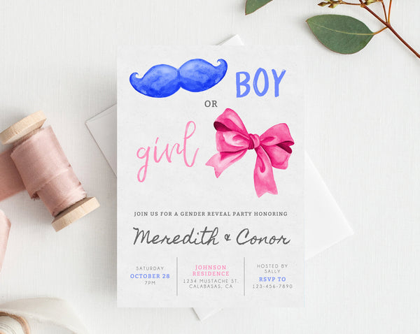 photo regarding Gender Reveal Printable titled Quick Obtain Gender Describe Get together Invitation, Printable Gender Demonstrate, Boy or Female Gender Make clear Celebration Invite, He or She, Templett